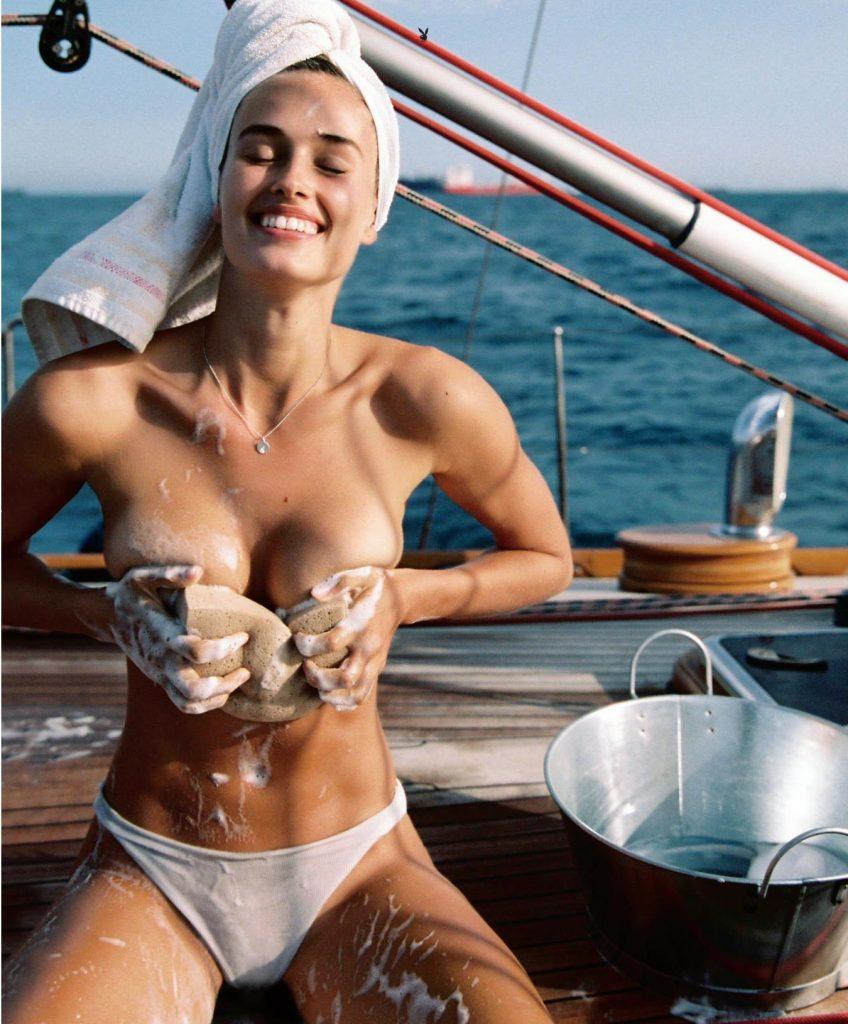 Johanne Landbo Nude Sailing for Playboy (9 Photos)